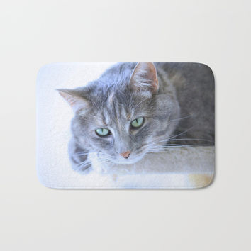 Aqua Eyes Bath Mat by Theresa Campbell D'August Art