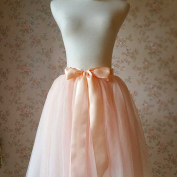 Adult Tutu Skirt. Blush Bachelorette Tutus. Soft Tulle Skirt. Knee Pink Adult Tulle Skirt. Blush Wedding. Women Tutu Fashion- Custom(T1812)