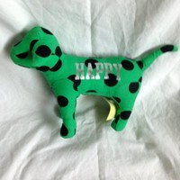 Victoria's Secret Green Dog with Black Polka Dots: PINK HAPPY