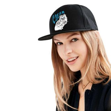 LMFON The cat BAD HAIR DAY Washed Cotton Adjustable Solid color Baseball Cap