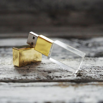 Glass 8GB USB Flash Drive, for wedding photographers, for box packaging
