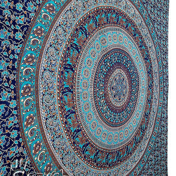 Mandala Tapestry, Hippie Wall Hanging, Cotton Bedspread Bed sheet, Indian floral Ethnic Decor,hippie tapestry,hippie wall hanging