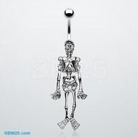Skeleton Dance Belly Ring