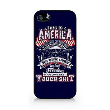 This is America, We eat meat We drink beer, We own guns, We speak english, We love freedom Quote - America Pride iPhone Case - Hard Plastic case for iPhone 6