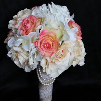 Adoring Rustic Rose Wedding Bouquet Collection