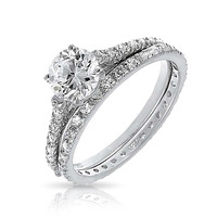 Bling Jewelry Lux Bridal Ring Set