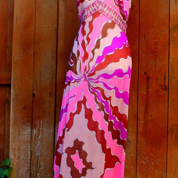 60's Vintage Classic EMILIO PUCCI for Formfit Rogers 2 pc Nightgown & Robe or Dress / Sax Fifth Avenue