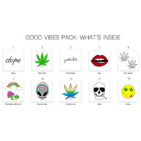 Good Vibes Pack Temporary Tattoos