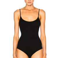 Unravel Cashmere Tank Top Body Suit in Black | FWRD