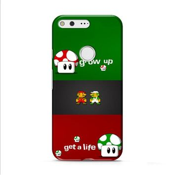 Super Mario Grow Up and Get a Life Google Pixel 2 Case