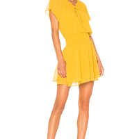 BCBGeneration Short Sleeve Blouson Dress In Golden Rod