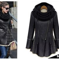 Women of new fund of 2014 autumn winters long thickening fashion leather coat collar-in Leather & Suede from Apparel & Accessories on Aliexpress.com | Alibaba Group