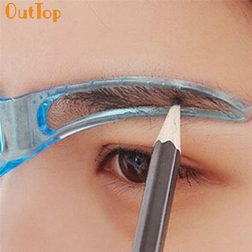 OutTop Colorwomen Professional Beauty Tool Makeup Grooming Drawing Eyebrow Template 160913 Drop Shipping S28 HW
