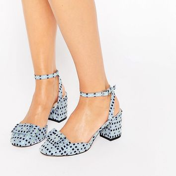 ASOS SPREE Bow Detail Heels