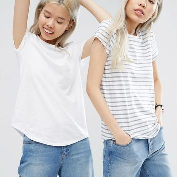 ASOS Easy T-Shirt 2 Pack SAVE 10%
