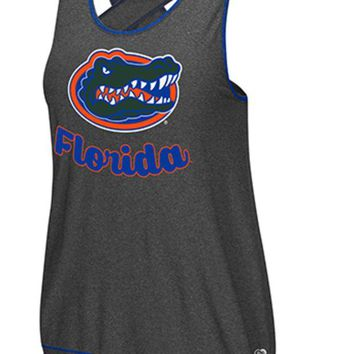 ONETOW NCAA Florida Gators Ladies Featherweight Decathlete Criss-Cross Back Tank