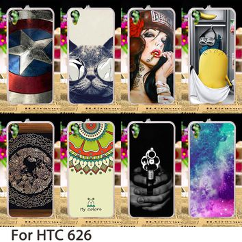 Cell Phone Cases For HTC Desire 626 Cover 650 628 A32 626w 626D 626G 626S Hard Plastic Soft TPU Flowers Minions Skin Sheath