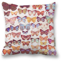 The Rise And Fall Butterfly Pillow Process - 16x16