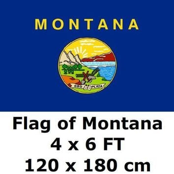 Montana Flag 4X6FT 100D Polyester State of US USA American United States Flags and Banners For Home Decoration