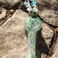 Pipe pendant on hemp necklace