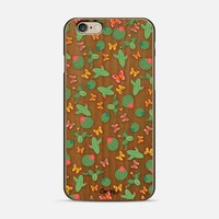 Cactus - wood iPhone 6 case by Kakel | Casetify