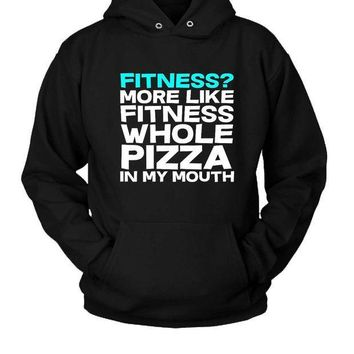 ESBP7V Fitness Whole Pizza Hoodie Two Sided