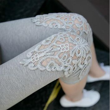 Summer hot short Women's Capris sexy Lace Pants Patchwork Trousers Slim Panties Lady skinny Leggings