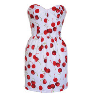 Cherry Print Pin-Up Dress | Style Icon`s Closet