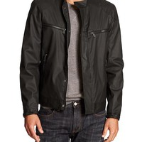 Banana Republic Mens Factory Coated Moto Jacket