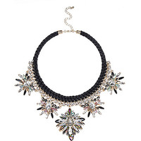 River Island Womens Black statement embellished necklace