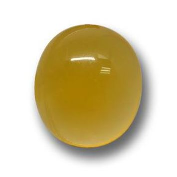 4.47 ct  Oval Cabochon Yellow Agate 11.7 x 10.2 mm