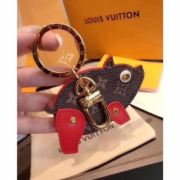 Louis Vuitton Lv M64181 Pig Bag Charm And Key Holder Red