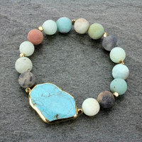 Genuine Stone Stretch Bracelet