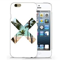 The X Palm Tree Iphone 6 Plus case, Iphone 6 Plus Case Plastic Hard White Cover Skin Case (4.7'' Screen)-Quindyshop