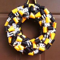 Pittsburgh Steelers Wreath for Front Door Ribbon Sports Football