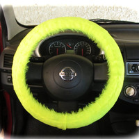 by (CoverWheel) Steering wheel cover for wheel car accessories Neon Yellow