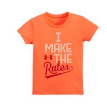 Under Armour Girls' Toddler UA I Make The Rules Short Sleeve