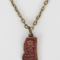 Mississippi State Charm Necklace - Necklaces - Jewelry
