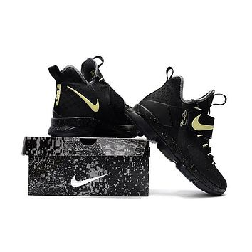 ... 67a61 763df Nike Lebron 14 Xiv Black Luminous Basketball Shoe Us7 12  fashion styles ... 18f9724e3f