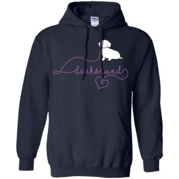 Dachshund Leash LS Shirt