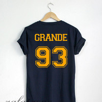 Ariana Grande Shirt Grande 93 Tshirt Navy Color Unisex Size - RT59