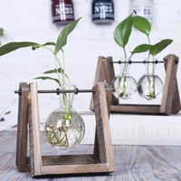 3 Types Modern Style Glass Tabletop Plant Bonsai Flower Wedding Decorative Vase With Wooden Tray Home Decoration Accessories Cheap Small Vases Cheap Tall Flower Vases From Ye1124, $20.23| Dhgate.Com