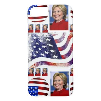 America Flag Hillary Clinton IPhone 7 Case