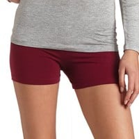 SOLID COTTON SPANDEX SHORTS