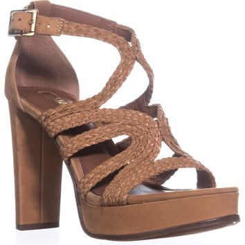 Lauren by Ralph Lauren Aleena Platform Sandals, Polo Tan, 7 US / 38 EU