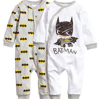 Spring Autumn Newborn Baby Girls Boy Batman Long sleeve Rompers Bodysuit cartoon Playsuit One-pieces Outfits 0-18M Alternative Measures