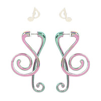 Blackheart Anodized Treble Clef & Music Note Tunnel Set