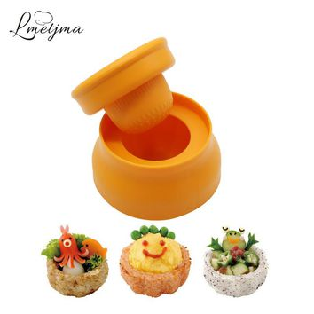 LMETJMA Japanese Rice Mold DIY Plastic Rice Ball Cup Mold Maker Creative Sushi Mold Maker For Kid Kitchen Sushi Tools KC0713-2