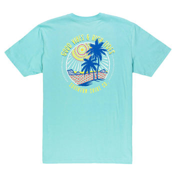 Island Vibes Tee in Blue Radiance by The Southern Shirt Co. - FINAL SALE