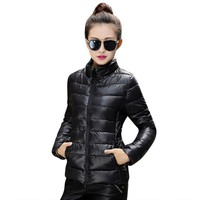 2016 Korean Women Warm Winter Coat Slim Cotton Padded Winter Puffer Jacket S-XXXL